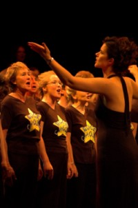 rock choir performance
